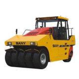 Rolo de estrada pneumático hidráulico do pneu de borracha da série 26ton de Sany Spr260-6 Spr