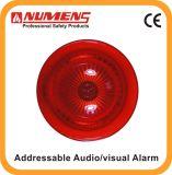 火災報知器の煙探知器のアドレス指定可能な可聴周波か視覚アラーム(640-004)