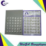 Blanc du bouton-poussoir 3# d'accessoires de vêtement en métal de placage de Hua Tai