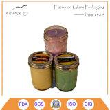 Sostenedores de vela de cristal de la venta de la fábrica de China, tarros de la vela del masón