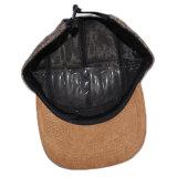 Casquillos tejidos Hip Hop de encargo de los sombreros del cáñamo de la corrección del borde del ante