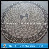 モザイク床のタイル、円形の/Squareパターン大理石の石のモザイク