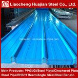 Chapas de aço galvanizadas da telhadura ondulada usadas para o material de telhadura