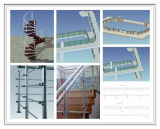 De lujo de acero inoxidable Barandilla de escalera con vidrio para Proyecto
