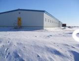 El almacén de la estructura de acero del revestimiento de la pared del panel de emparedado/prefabricó la casa de la estructura de acero/el edificio de la estructura de acero