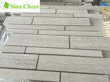 Tira al azar de mármol gris de grano de madera para Backsplash baldosas mosaico