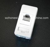 4-Core PC Rj11 enchufe de pared del teléfono Toma de corriente