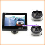 Câmera de reserva de carro de veículo sem fio de 2 canais com monitor