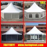 Tenda del Pagoda di esagono della pagina della lega di alluminio con la parete di vetro del comitato