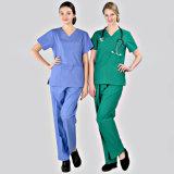 Medical&Hospital simple frotte/jeux d'uniformes/habillements pour le médecin/infirmière