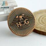 Medaglione impresso 3D personalizzabile del bronzo dell'oggetto d'antiquariato del metallo