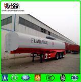 Aanhangwagen van de vrachtwagen gebruikte 3 de Tanker van de Brandstof van de Tank van de Ruwe olie van de As 45000L voor Verkoop