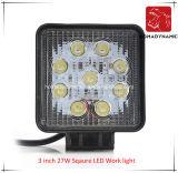 Arbeits-Licht des LED-Auto-Licht-3 des Zoll-27W Sqaure LED für SUV Auto LED weg vom Straßen-Licht und von fahrendem Licht