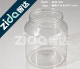 Pet botella plástica de 500ml 800ml 1000ml tarro de plástico transparente de plástico con tapa de aluminio o