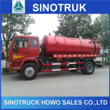 SinoトラックHOWO 4X2 226HPの吸引の真空の下水のタンク車