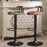 جديد تصميم معدنة [سويفل شير] جلد مقادة قضيب كرسي تثبيت