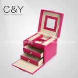 Rectángulo de almacenaje de empaquetado de la joyería del regalo de cuero de lujo de la PU