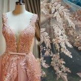 Fiore pesante 3D Tulle floreale/merletto in rilievo pesante ricamato di buona qualità del fiore 3D del voile