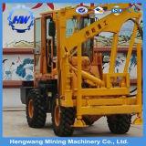 Type de chargement du marteau hydraulique à roues Appuyez sur la vis de conduite ou de pilote pour la fondation de pieux de rambarde