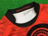 Healong Cheap Couleur Jaune et Noir sublimé de gros de Rugby Shirt frais et sec