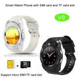 O relógio esperto de Bluetooth da promoção com ranhura para cartão e Mutiple de SIM funciona (W8)