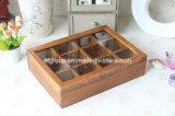 Venta caliente el perfume de madera antigua Caja con ventana transparente