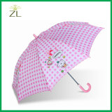 190t 폴리에스테 만화 똑바른 아이 우산