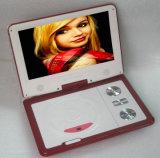 9-дюймовый портативный DVD плеер красного цвета