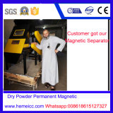 Séparateur de tambour magnétique permanent en poudre, matériau plastique Enlèvement de fer