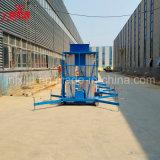 Tabella di elevatore idraulica mobile della lega di alluminio del doppio albero