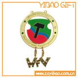 Medalla de cobre anti de encargo del deporte 3D con la cinta (YB-MD-31)