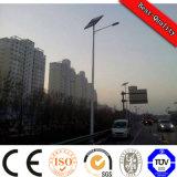 Aufgeteilter Typ Solarstraßenbeleuchtung Pole der Sonnenkollektor-Batterie-LED