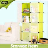 8 Würfel-justierbarer Plastikablagekasten-Garderoben-Schrank