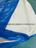 Couverture bleue/blanche de qualité de PE de bâche de protection, feuille de finition de bâche de protection