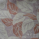 Feuille Motif Jacquard Chenille Neige 100% Polyester pour Sofa