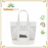 PVC Clear Tote Bag della Cina Manufacturer Custom Cyan Beach con Zipper Closure