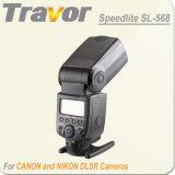 Flash de la cámara SL568 para cámaras DSLR de Canon y Nikon