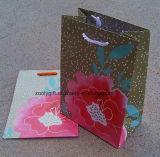 Sac bon marché d'emballage de cadeau de papier d'imprimerie de fleur