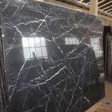 中国の製造の高品質のNero Marquinaの大理石の平板