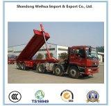 2 Axles поднимают шассиих трейлера Tipper Dumper от фабрики Китая