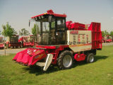 125HP Engine, New Three Rows Corn Maiser Reaper Combined Machine