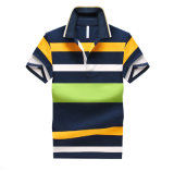 Hot Sale Hommes Heavy Cotton Striped Polo Shirts
