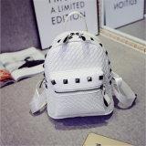 Sac à dos de femmes coréens occasionnels de sac à dos tissé par rivet mini (GB#HB)