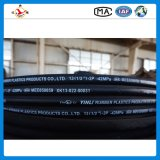 Le fil d'acier a renforcé le boyau hydraulique couvert par caoutchouc