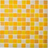 Gelbes Glasmosaik für Hintergrund-Wand