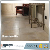 Cheap Prices of Moca Cream Limestone Tiles with Honed Surface