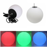 Luz colgante flotante eléctrica plástica hueco de la bola del RGB LED
