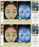 L'analizzatore facciale portatile facciale Wirh della pelle ha polarizzato