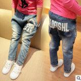 2014 dernière conception de nouveaux Sweet Girl jeans, les enfants de Jeans Fashion fleur imprimé