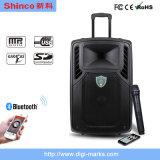 Shinco Spreker van het Karretje Bluetooth van 12 Duim de Draagbare Draadloze Actieve